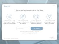 DailyUI - #100 - Redesign DailyUI Landing Page