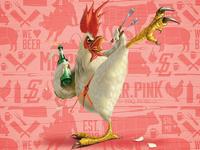 Kicking Bird Chicken Rub Art