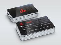 A.S. business card design