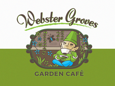 Webster Groves Garden Café Coffee Logo
