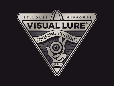 Visual Lure Badge Logo