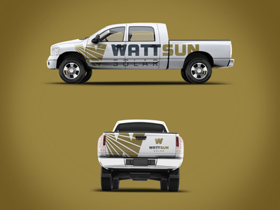 WattSun Solar Truck vehicle wrap design