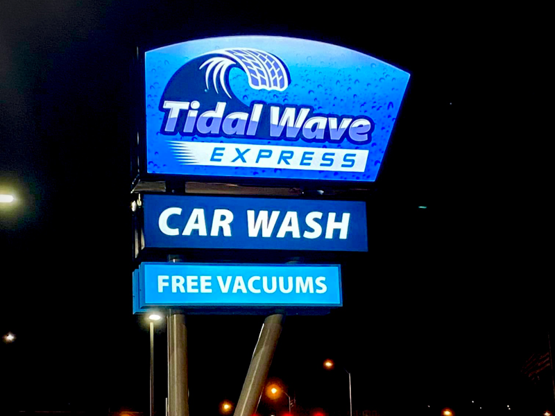Tidal Wave Express Car Wash sign
