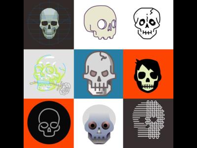 Skulls sketches explorations skulls skull illustrations