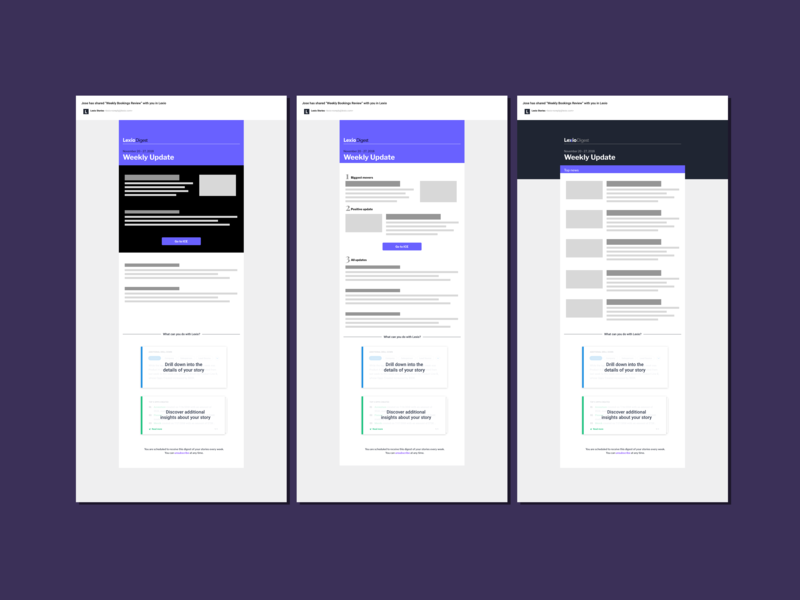 Email template layouts design vector illustration explorations ui email campaign