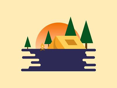 Camping 🏕️ figma figma illustration camping illustration