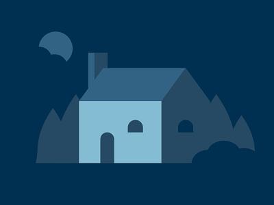 Blue House house blue house illustration adobe illustrator