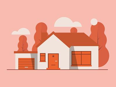 Orange House house orange house illustration adobe illustrator