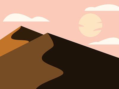 Desert nature desert illustration adobe illustrator