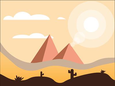 Desert desert nature illustration adobe illustrator