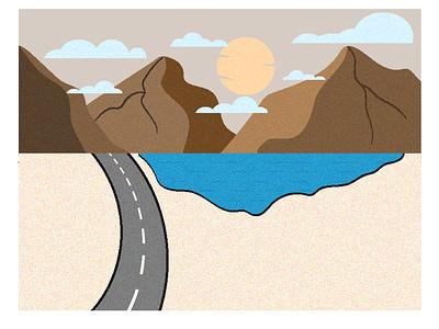 Grainy Evening grain graineffect evening desert illustration adobe illustrator