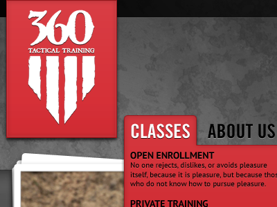 360 Tactical Training Home Page