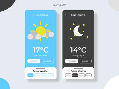 Weather App forecast ux weather app weather 037 dailyui037 app mobile dailyui mobile design ui graphic design design