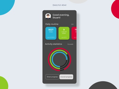 Workout Tracker fitness app fitness tracker workout tracker workout 041 dailyui041 mobile app mobile design dailyui ui graphic design design