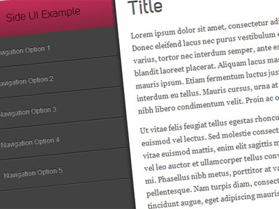 css3 UI experiment css3 design in the browser