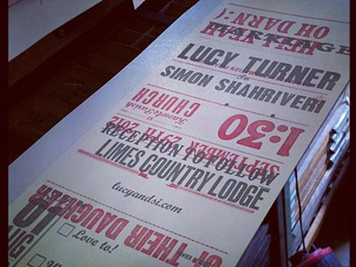 Mistake letterpress wedding invites handmade