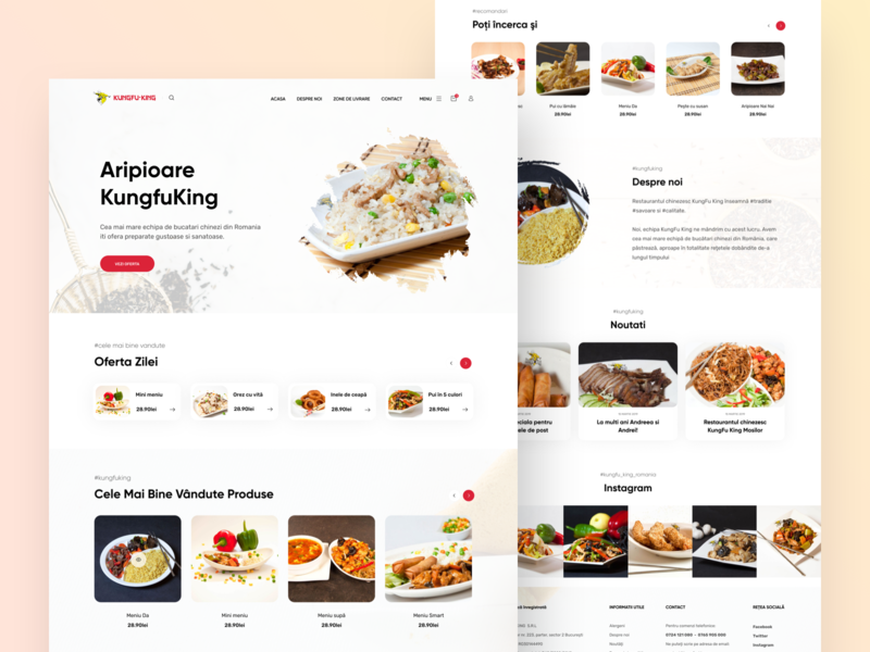 kungfu-King Website food restaurant concept uidesign webdesign design vietnam ui