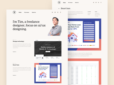 My Portfolio concept typography web vietnam ui portfolio webdesign website