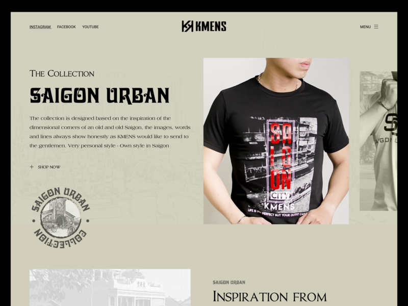 Saigon Urban Collection vintage design fashion website uidesign webdesign design concept vietnam ui