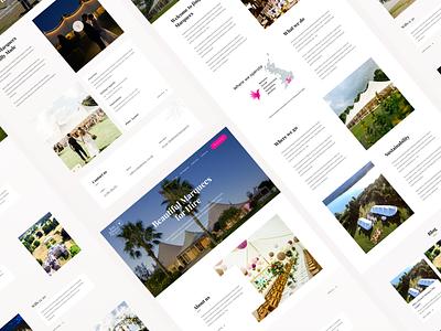 Marquee Hire marquee typography vietnam website web webdesign design ui