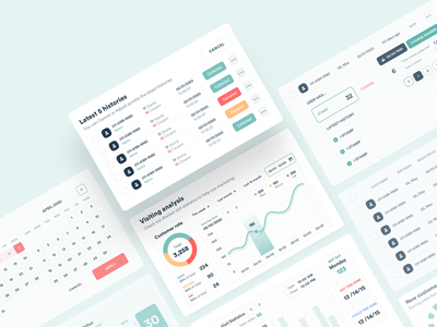 Admin UI Elements dashboard uidesign ux web design concept vietnam ui