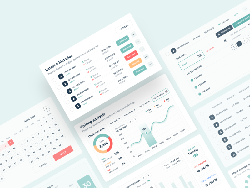 Admin UI Elements dashboard uidesign ux web design concept vietnam ui