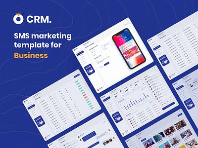 SMS marketing template for business sms marketing design concept dashboard ux uidesign webdesign ui vietnam