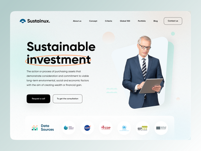 Investment Website Concept typography website web uidesign design webdesign concept vietnam ui