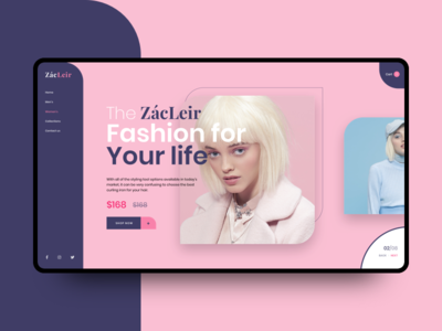 The Zacleir color vietnam webdesign fashion ui