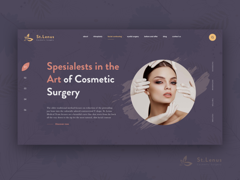 St.lenus facial contouring ux design uidesign productdesign beauty center design web reconstructive surgery cosmetic ux ui art vietnam