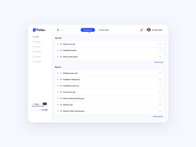 File management app minimalist dashboard vietnam ux concept webdesign ui