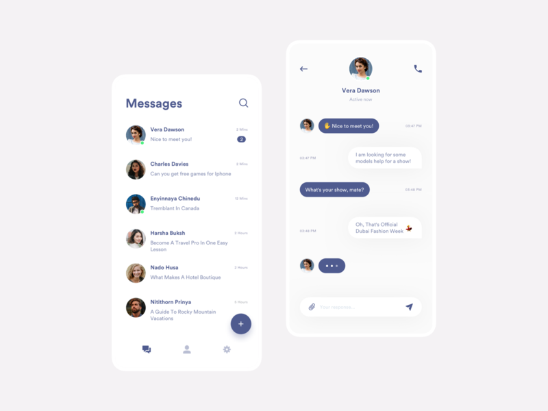 UI Message message app uidesign messages