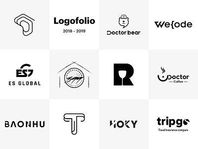 Logofolio 2018-2019 vietnam concept black  white minimalist logo brand identity logo design