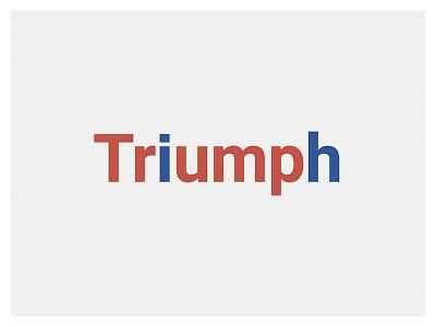 Triumph united states of america donald trump typography history controversial vote president election usa us triumph trump