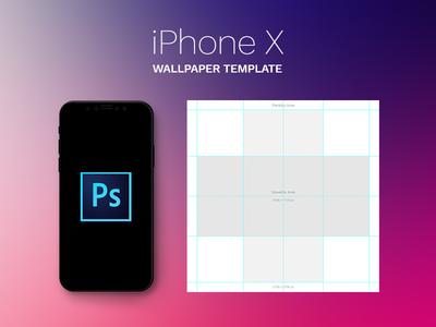 Free IPhone X Parallax Wallpaper Template PSD