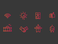 Icons for a coworking space