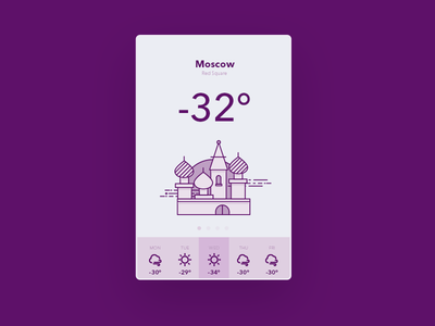 Weather app weatherapp app design web ui user interface weather moscow