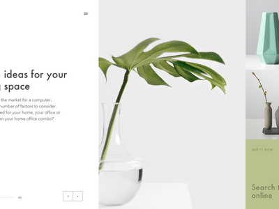 Interior blog layout sketch effects after interior blog interface slider interaction ux ui