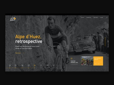 Tour De France racing tourdefrance cycling interaction design web ux interface ui