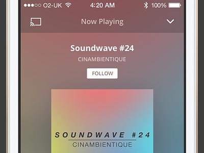 Mixcloud iOS Beta mixcloud music audio ui ios apple iphone play player artwork app application