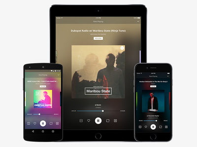 Mobile Apps ipad iphone player music ui app mobile android ios audio mixcloud
