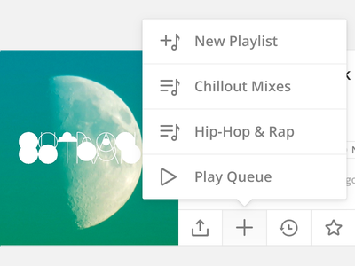 Playlist Menu interface ui play menu popover icons music playlist audio mixcloud