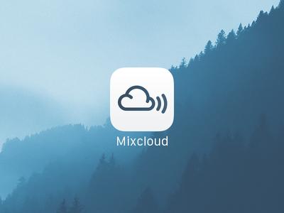 Mixcloud iOS Icon apple application audio ipad iphone home cloud icon app ios mixcloud