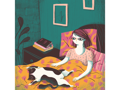 Insomnia personal project editorial illustration illustrator digital illustrator