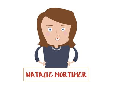 Natalie Mortimer Caricature