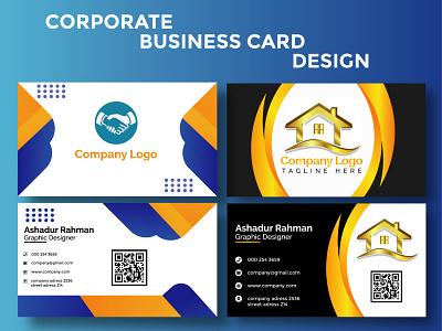 Corporate Business card Design ux vector ui design bucher design logo illustration branding flyer design graphic design business card design corporate business card design corporate business card corporate business