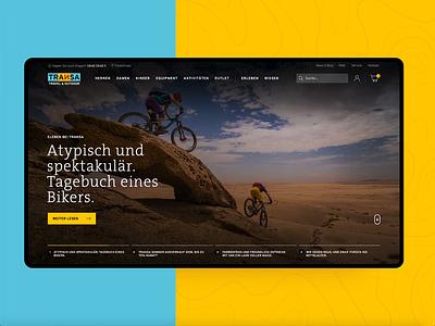Transa.ch - shop concept product page homepage ui cs design ux shop ecommerce