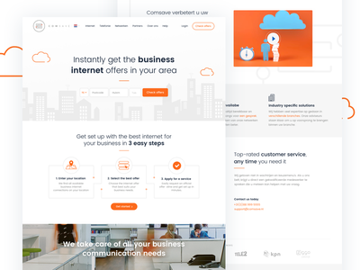 Comsave interface web ux design internet website ui landing page company