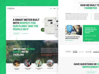 FairMeter home page ui homepage landing page home page