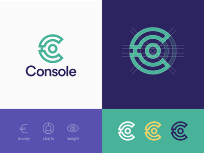 Console Logo finance geometric icon logotype branding logo